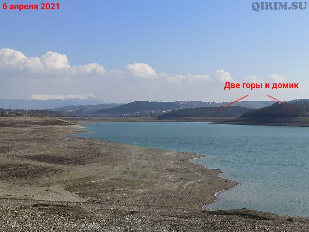 Симферопольское водохранилище две горы 6 апреля