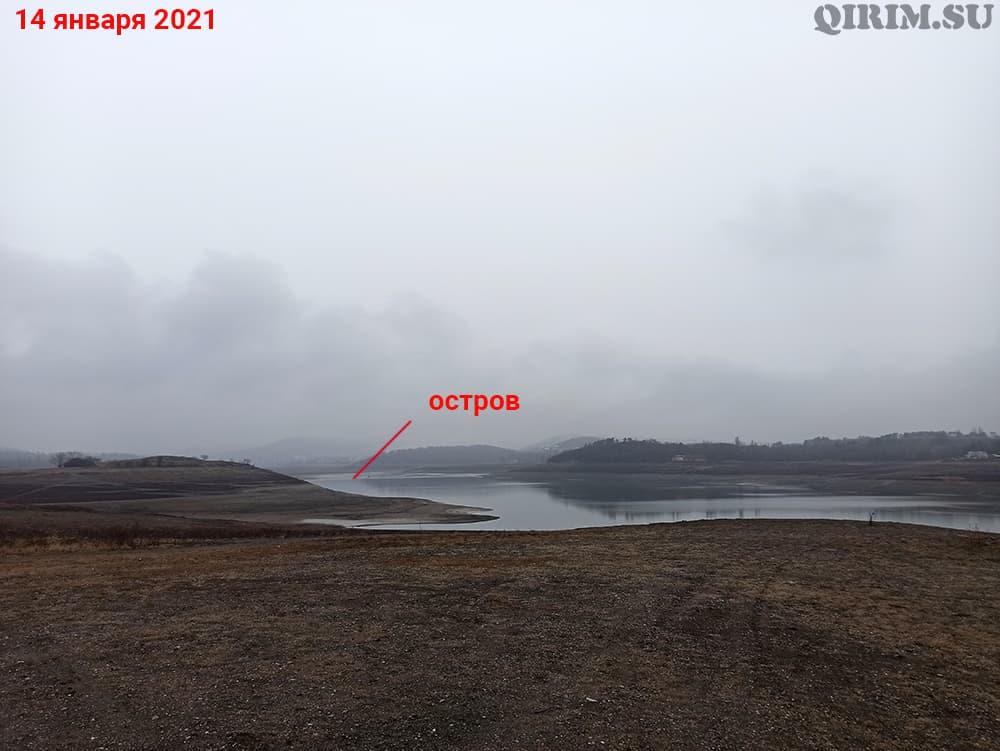 Симферопольское водохранилище остров 14 января