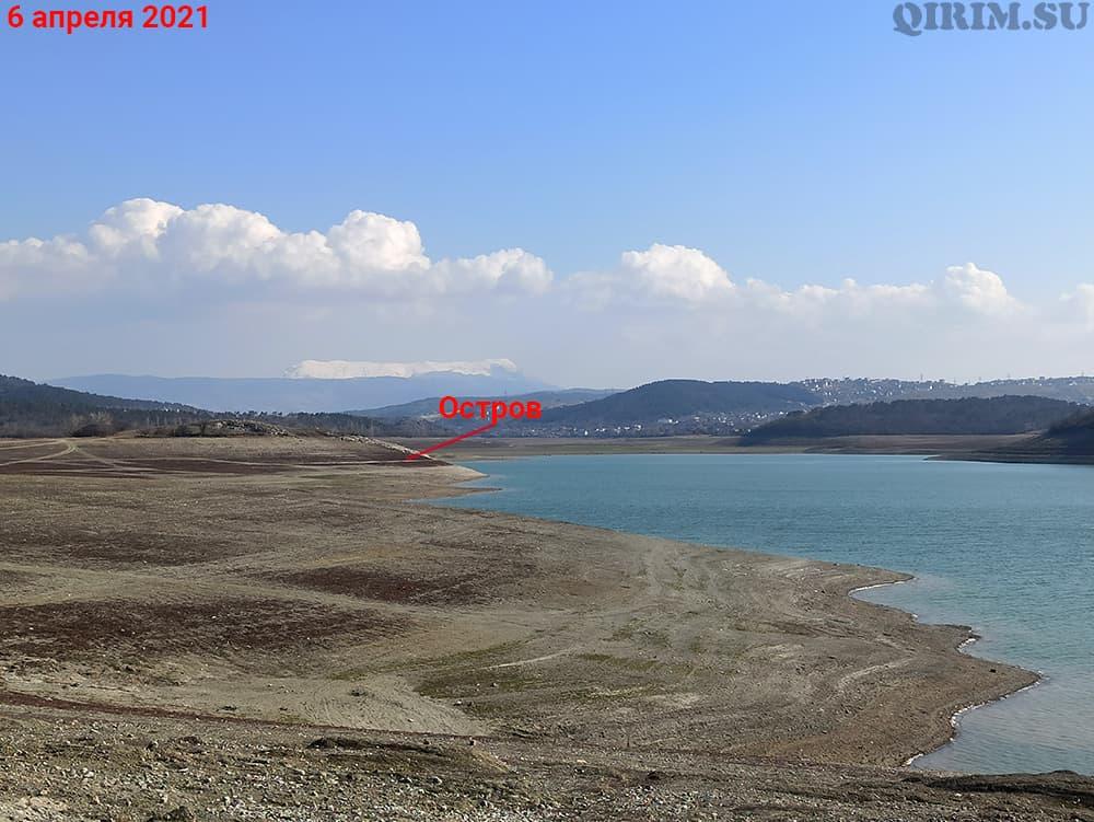 Симферопольское водохранилище остров 6 апреля
