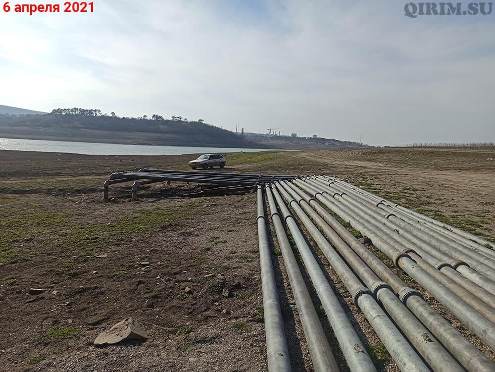 Симферопольское водохранилище подведенные трубы с Тайганского водохранилища 2