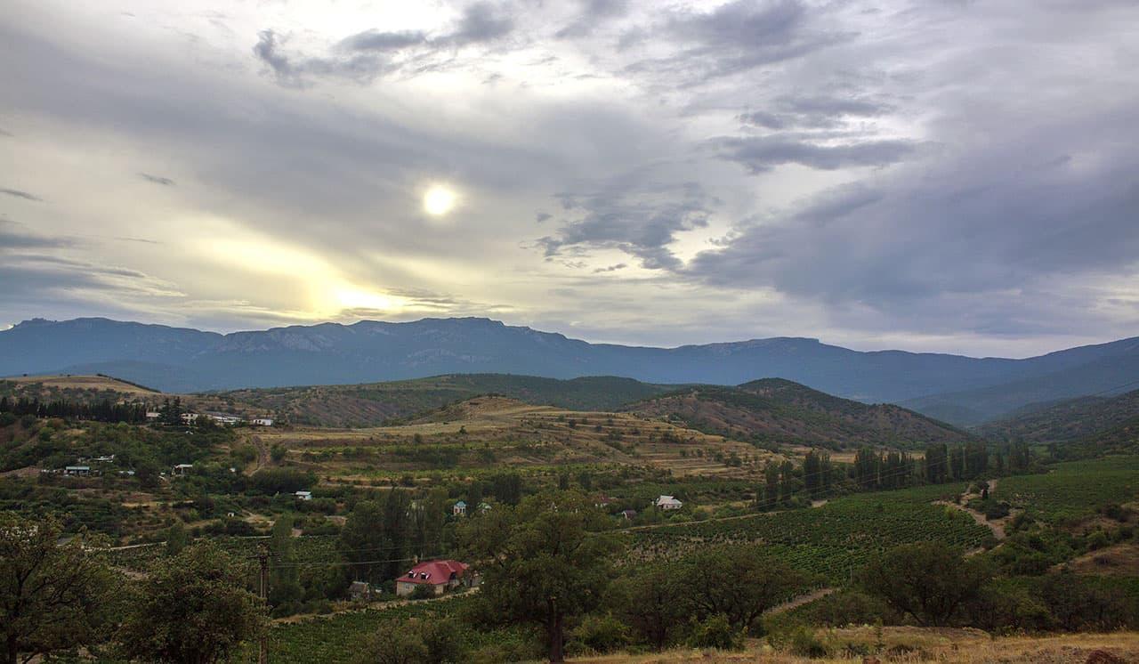 Малореченское вид на горы