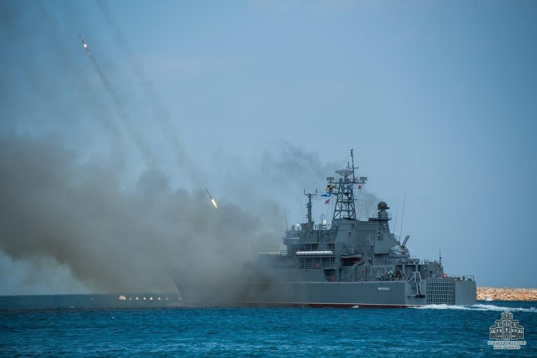 День ВМФ артиллерийская стрельба