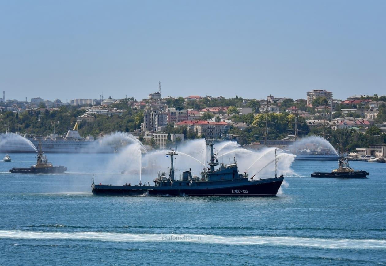 День ВМФ тушение пожара 2
