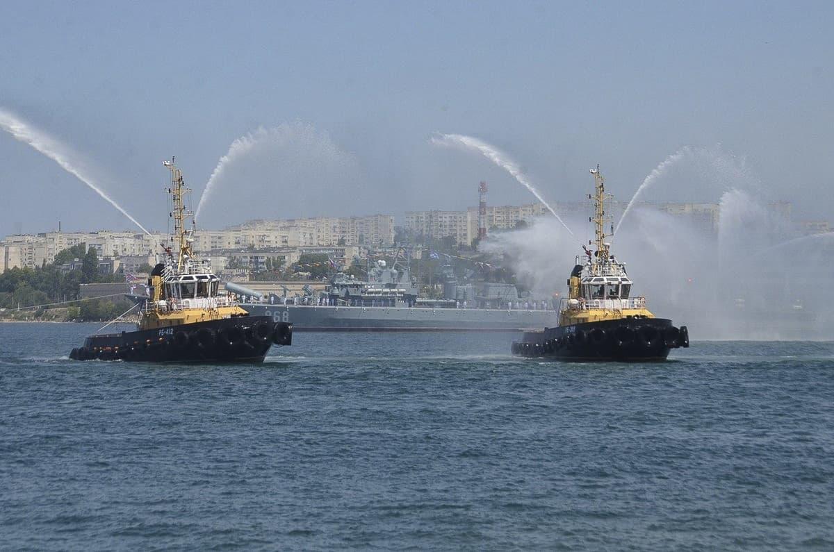 День ВМФ тушение пожара