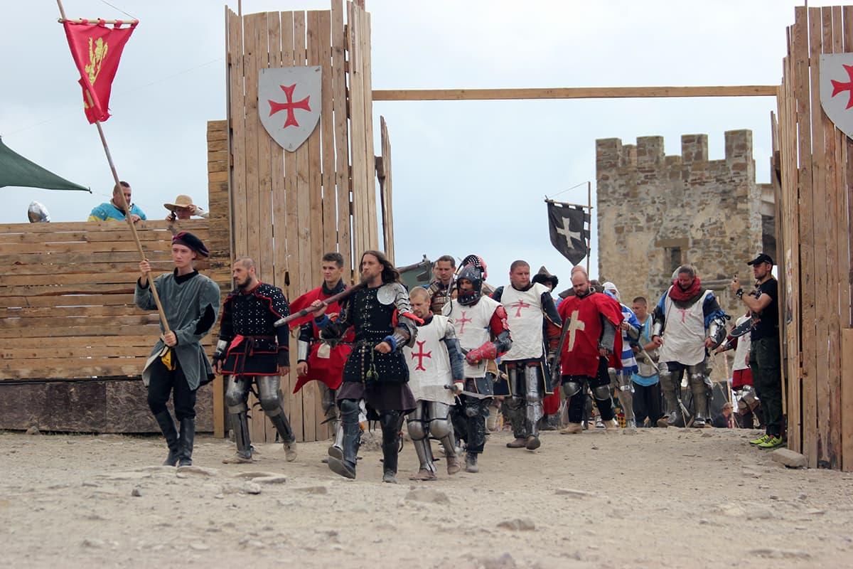 Рыцарский фестиваль Генуэзский шлем